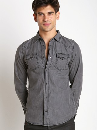Complete the look: Diesel New Sonora Denim Shirt Black