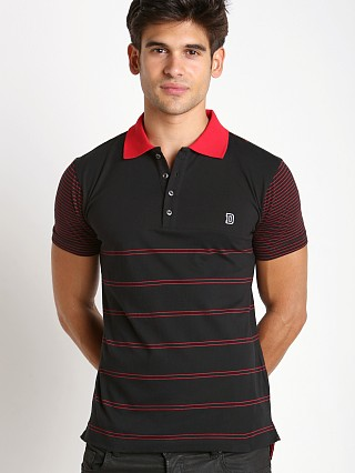 Diesel T-Mother Yarn Dyed Polo Shirt Black/Red