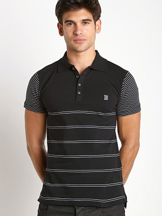 Diesel T-Mother Yarn Dyed Polo Shirt Black/White
