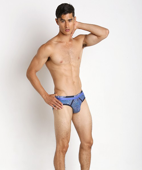 2xist Graphic No-Show Brief Pointillism Dress Blue