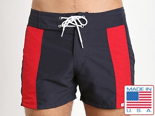 Sauvage Patriot Boardwalk Surf Short Navy Red White