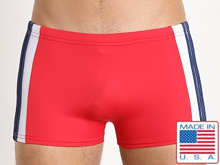 Sauvage Patriot Freestyle Square Cut Red Navy White