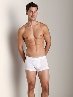 Emporio Armani Fashion Yarn Dyed Polyester Trunk White