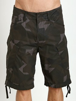 G-Star Raw Cargo Rovic Camo Shorts Black