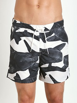 G-Star Yoshem Raw Shark Beach Shorts Lt Chalk