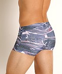 2xist Fashion Sliq Cabo Swim Trunk Faux Vinyl, view 4