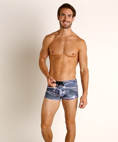 2xist Fashion Sliq Cabo Swim Trunk Faux Vinyl