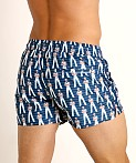2xist Fashion Ibiza Swim Shorts Sailor Man Vintage Blue, view 4