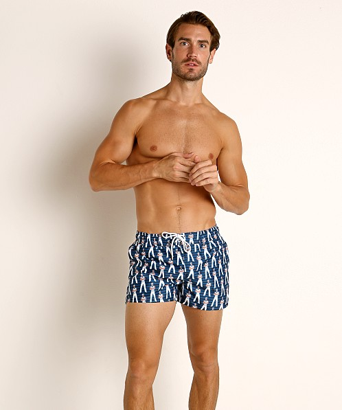 2xist Fashion Ibiza Swim Shorts Sailor Man Vintage Blue