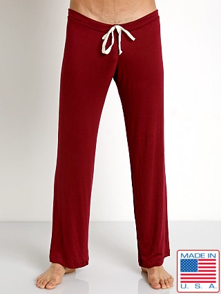 N2N Bodywear Lounge Sleeper Pant Burgundy