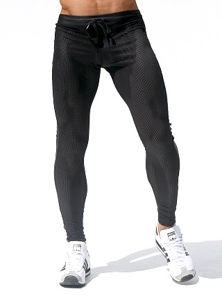 Rufskin Super Ricky Mesh/Rubber Compression Leggings Black