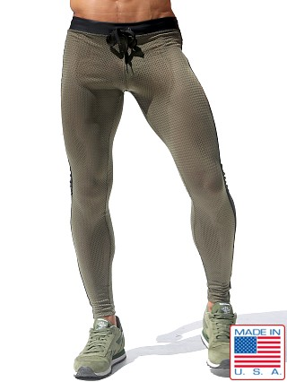 Rufskin Super Ricky Mesh/Rubber Compression Leggings Olive