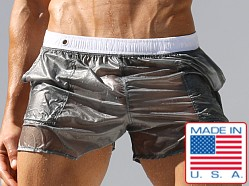 Rufskin Nuage Translucent Nylon Pocket Shorts Silver