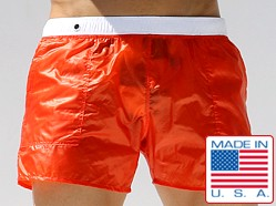 Rufskin Nuage Translucent Nylon Pocket Shorts Orange