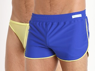 Modus Vivendi Double Face Swim Shorts Blue/Yellow