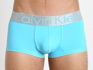 Calvin Klein Steel Micro Low Rise Trunk Blue Atoll