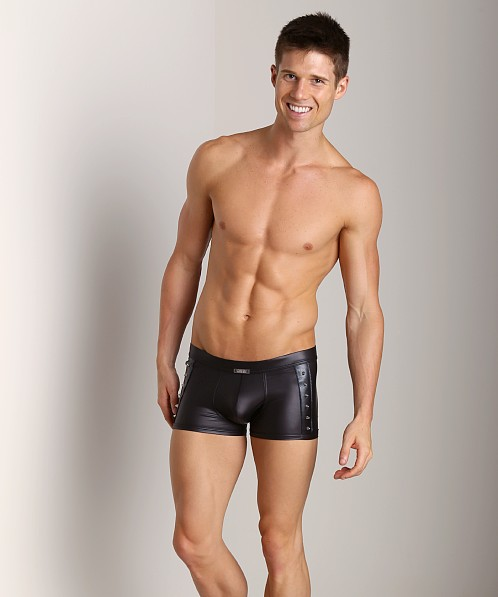 Gregg Homme Rockstar Studded Leather Look Boxer Briefs Black