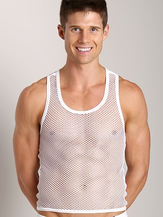 Gregg Homme Beyond Doubt Mesh Tank Top White