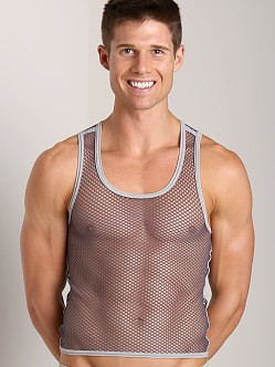 Gregg Homme Beyond Doubt Mesh Tank Top Pewter