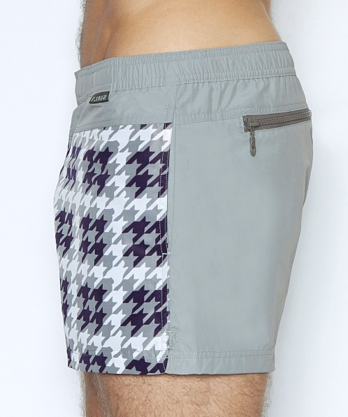 C-IN2 Woven Swim Shorts Hound's Tooth Lite