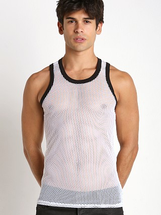 Complete the look: Go Softwear Hard Core Chain Link Mesh Tank Top White