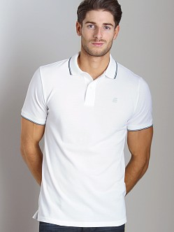 G-Star RCT Slim Stripe Polo Shirt White