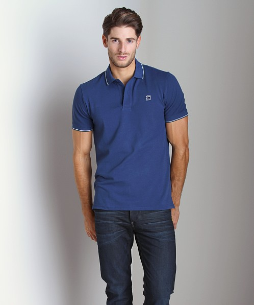 G-Star RCT Slim Stripe Polo Shirt Python