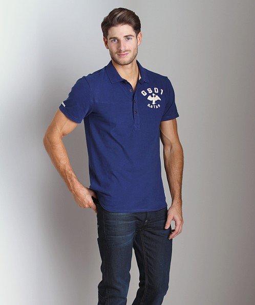 G-Star Cutlass Polo Shirt Swedish Blue
