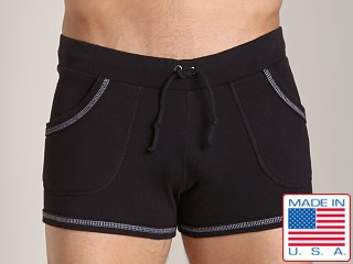 Model in black Go Softwear 100% Cotton Sport Short