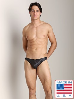 Go Softwear Pleather C-Ring Thong Black