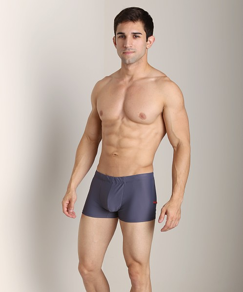 Go Softwear Enhancing Square Cut Swim Trunk Charcoal