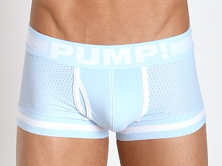 Model in blue/white Pump! Frost Touchdown Mesh Trunk Ice