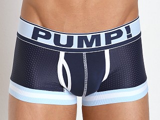 Model in navy/baby blue Pump! Blue Steel Touchdown Mesh Trunk