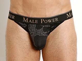 Male Power Black Gold Enrichment Thong Black/Gold