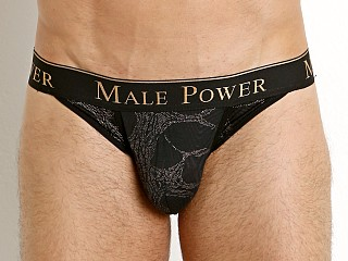 Male Power Black Gold Enrichment Bikini Brief Black/Gold