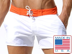 Rufskin Patrick Short Board Shorts White/Orange