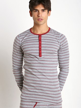2xist Essential Long-Sleeve Henley Heather Grey