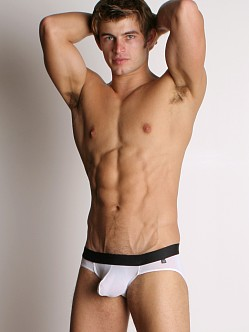 Tulio Power Pouch Mesh Briefs White/Black