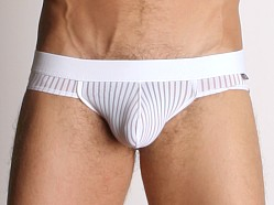 Tulio Power Pouch Sheer Stripe Briefs White