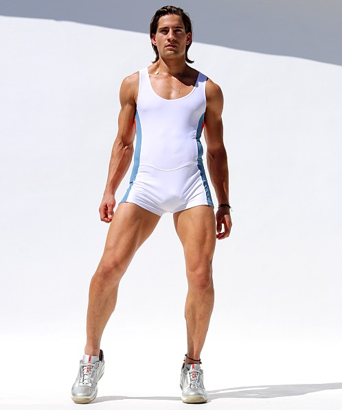 Rufskin Freeze Sport Bodysuit White/Orange/Sky