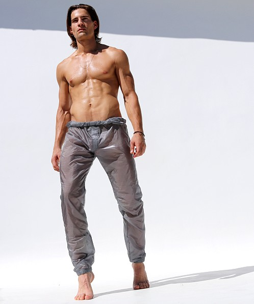 Rufskin Roll Down Ripstop Nylon Pants Silver