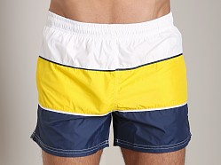 Hugo Boss Butterflyfish Swim Shorts Yellow/Navy