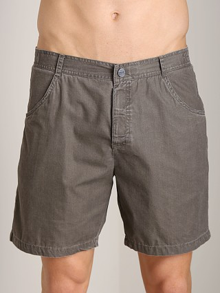Model in taupe Hugo Boss Sunfish Swim Boxer