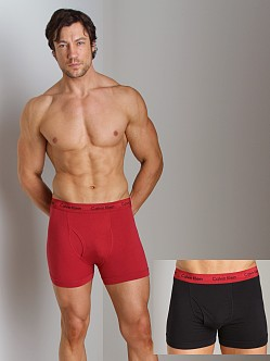 Calvin Klein Cotton Stretch 2 Pack Trunk Red & Black