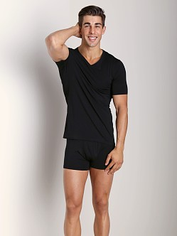 Naked Micromodal V Neck Undershirt Black