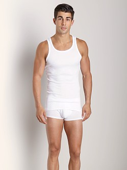 Naked Cotton/Modal Ribbed Tank White
