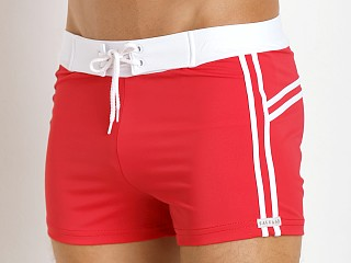You may also like: Sauvage Mariner Stripes Italian Lycra Swim Trunk Red