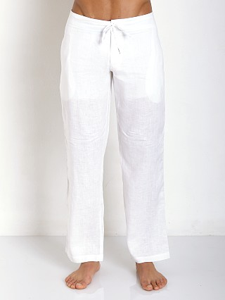 You may also like: Sauvage 100% Laundered Roma Linen Tropical Pant White