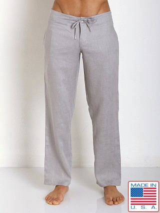 Sauvage 100% Laundered Roma Linen Tropical Pant Stone