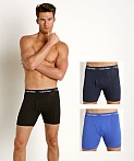 Calvin Klein Cotton Stretch Boxer Brief 3-Pack Black/Blue/Cobalt, view 1